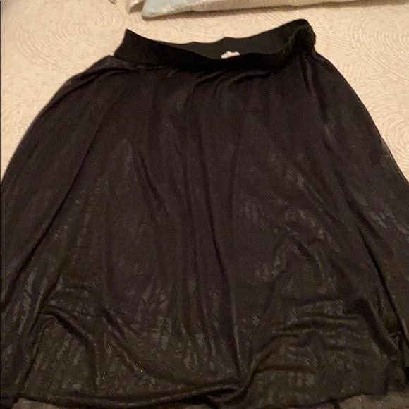 Lularoe Black lined Lucy skirt